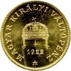 Moneta > 20filler, 1922 - Ungheria  (Brass /non-magnetic/) - obverse