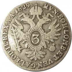 Moneda > 3kreuzer, 1825-1830 - Àustria  - reverse