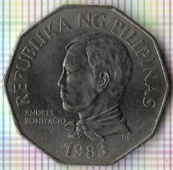 Mynt > 2piso, 1983 - Filippinene  - obverse