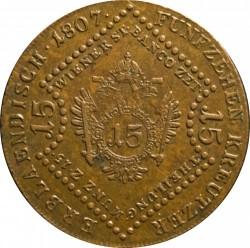 Moneda > 15kreuzer, 1807 - Austria  - reverse