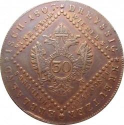 Монета > 30кройцера, 1807 - Австрия  - reverse