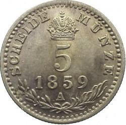 Монета > 5крейцерів, 1858-1864 - Австрія  - reverse