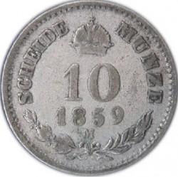 Münze > 10Kreuzer, 1858-1865 - Österreich   - reverse