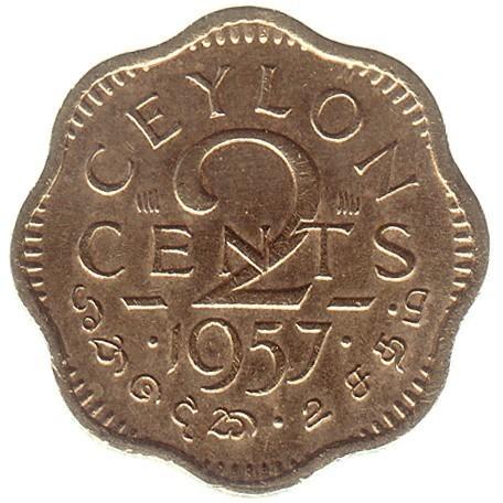2 Cent 1955 1957 Ceylon Münzen Wert Ucoinnet