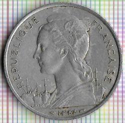 Монета > 5франков, 1953 - Мадагаскар  - reverse