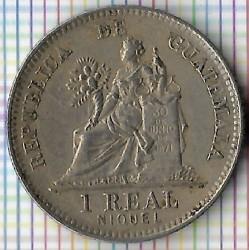 Moeda > 1real, 1900-1912 - Guatemala  - reverse