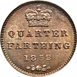 Coin > ¼farthing, 1839-1853 - United Kingdom  - reverse