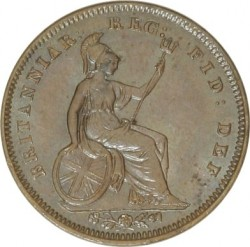 Coin > ⅓farthing, 1844 - United Kingdom  - reverse