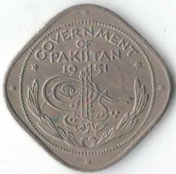 Münze > 2Anna, 1948-1951 - Pakistan  - obverse