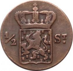 Moneta > ½stuiver, 1821-1826 - Indie Olandesi Orientali  - obverse