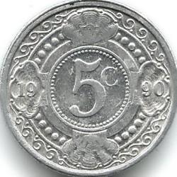 Monedă > 5cenți, 1989-2016 - Antilele Olandeze  - reverse