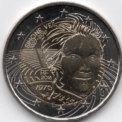 2 Euro 2018 Simone Veil Frankreich Münzen Wert Ucoinnet