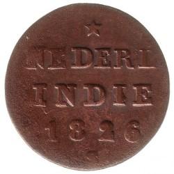 Moneta > ½stuiver, 1821-1826 - Indie Olandesi Orientali  - reverse