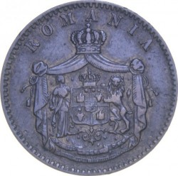 Coin > 2bani, 1867 - Romania  - obverse