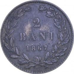 Coin > 2bani, 1867 - Romania  - reverse