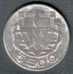 Münze > 5Escudos, 1932-1951 - Portugal  - obverse