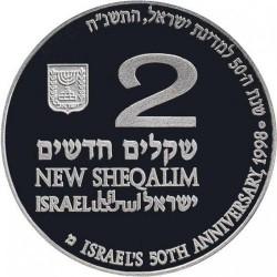 Moneta > 2nuovisheqalim, 1998 - Israele  (50° anniversario - Indipendenza) - obverse