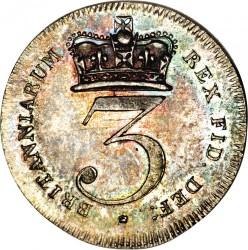 Moneda > 3peniques, 1817-1820 - Reino Unido  - reverse