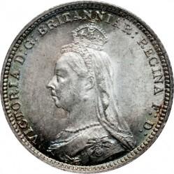 Moneta > 4pensy, 1888 - Wielka Brytania  - obverse