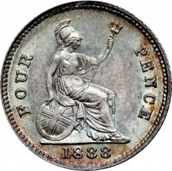 Moneta > 4pensy, 1888 - Wielka Brytania  - reverse