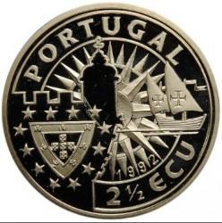 Монета > 2½ЕКЮ-та, 1992 - Португалия  (Europe and the New World - John II) - obverse