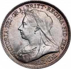 Moeda > 6pence, 1893-1901 - Reino Unido  - obverse