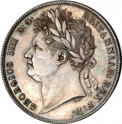 Монета > ½крони, 1820-1823 - Велика Британія  - obverse