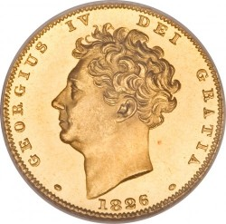 Monedă > ½ sovereign, 1826-1828 - Regatul Unit  - obverse
