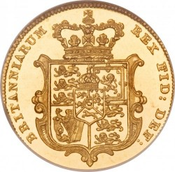 Monedă > ½ sovereign, 1826-1828 - Regatul Unit  - reverse
