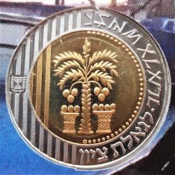 سکه > 10شکلجدید, 1996-2010 - اسراییل  (Hanukkah - candelabrum a bottom the value) - obverse