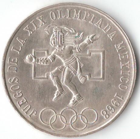 25 Pesos 1968 Olympics Mexico Coin Value Ucoin Net