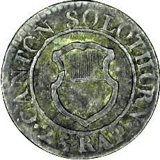 Кованица > 1крајцер, 1830 - Кантони Швајцарске  - obverse