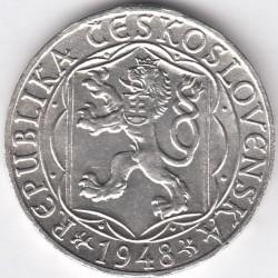 Moneta > 100corone, 1948 - Cecoslovacchia  (600° anniversario - Università di Karlovy) - obverse