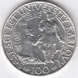 Moneta > 100corone, 1948 - Cecoslovacchia  (600° anniversario - Università di Karlovy) - reverse