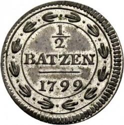 Moneta > ½batzen, 1799 - Svizzera  (Senza numerale al Dritto) - reverse