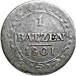Moneta > 1batzen, 1799-1803 - Svizzera  - reverse