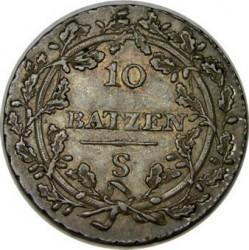 Monedă > 10batzen, 1798-1801 - Elveția  - reverse