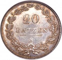 Monēta > 20batzen, 1798-1799 - Šveice  - reverse