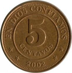Νόμισμα > 5Σεντάβος, 2002 - Νικαράγουα  - obverse