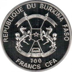 Moneda > 100francos, 2017 - Burkina Faso  (Copa Mundial de Fútbol de Rusia 2018) - obverse