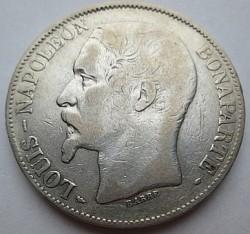 Moneta > 5franchi, 1852 - Francia  - obverse