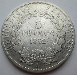 Münze > 5Franken, 1852 - Frankreich  - reverse