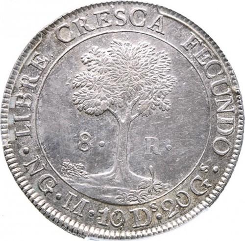 8 Reales 1824 1847 Zentralamerikanische Konföderation Münzen Wert