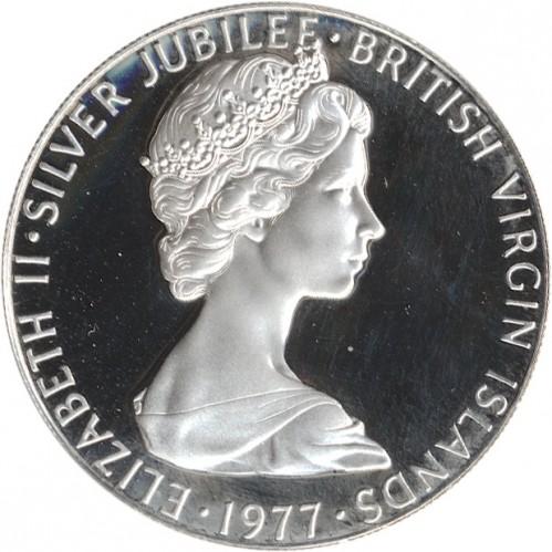 25 Cent 1977 Thronbesteigung Von Queen Elisabeth Ii Britischen