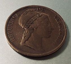 Mynt > 1centavo, 1852 - Venezuela  (Utan myntmärke) - obverse