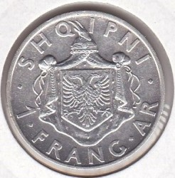 سکه > 1فرانگآر, 1935-1937 - آلبانی  - obverse