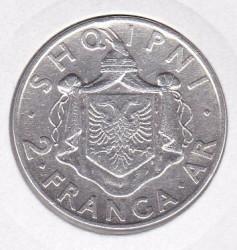 Moneda > 2frangaari, 1935 - Albània  - reverse