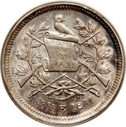 Moneda > 25centavos, 1881-1891 - Guatemala  - obverse