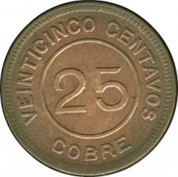 Munt > 25centavos, 1915 - Guatemala  - reverse