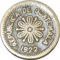 Munt > 50centavos, 1922 - Guatemala  - obverse